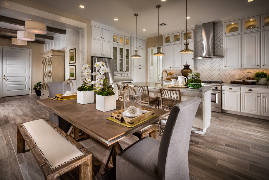 The gourmet kitchen is perfect for entertaining