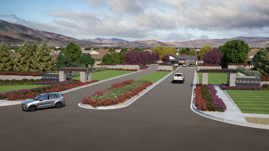 Regency at Caramella Entrance Artist Rendering