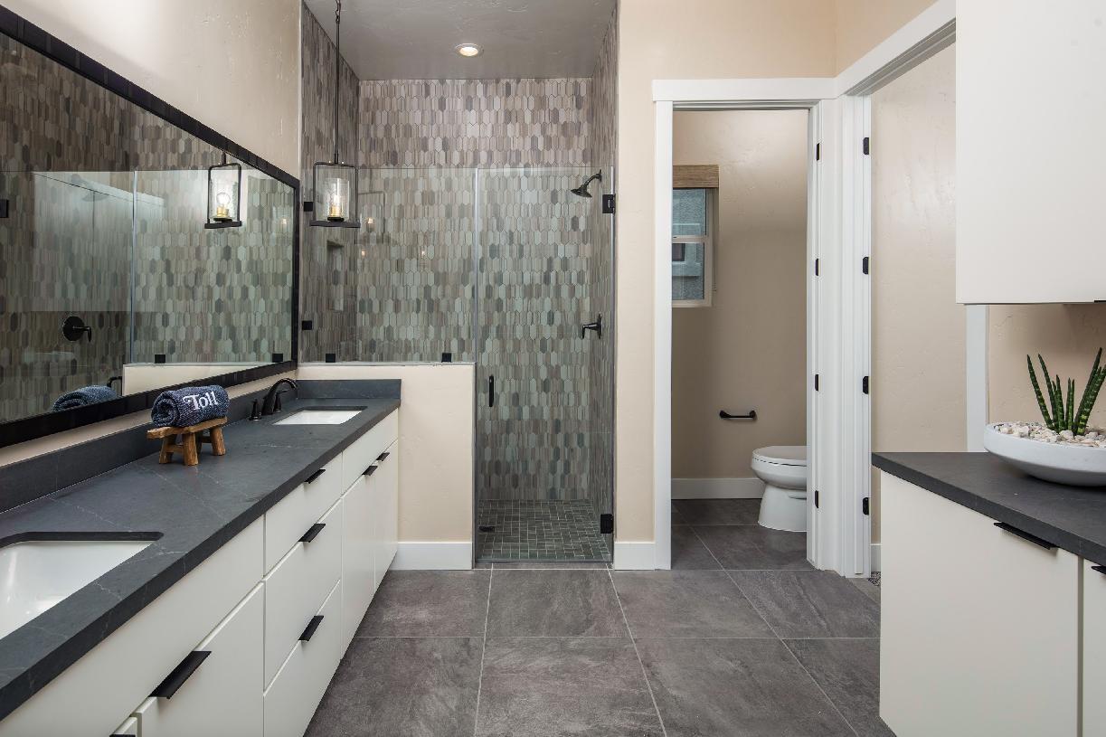Cambria Elite sumptuous primary bathroom