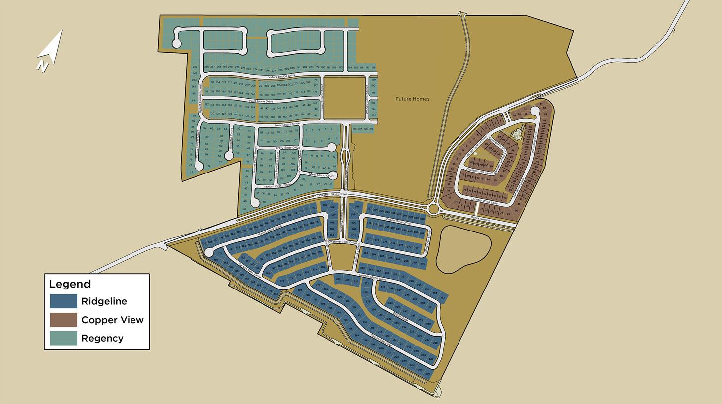 Regency at Caramella Ranch Master Site Plan