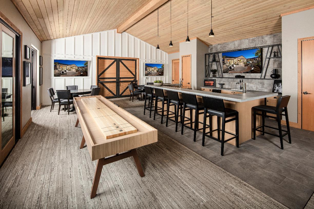 Regency at Caramella Ranch clubhouse entertaining space