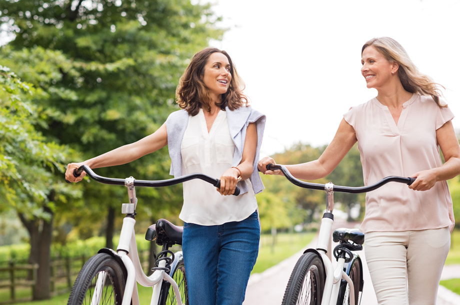 Bike outdoors and enjoy a multitude of events coordinated by the lifestyle director