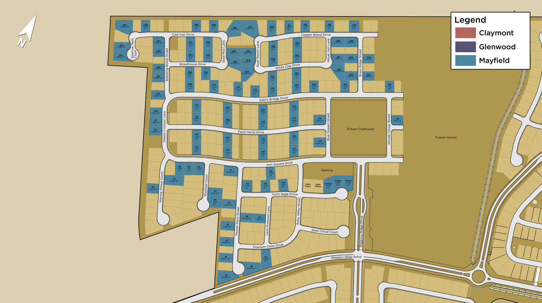 Regency at Caramella Ranch - Mayfield Collection Site Plan