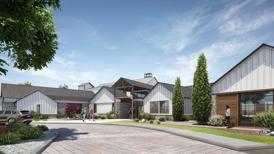 The Hub at Regency at Caramella Ranch will include a resort lounge, cafe and bar area, fitness center, movement studio, indoor lap pool, and more