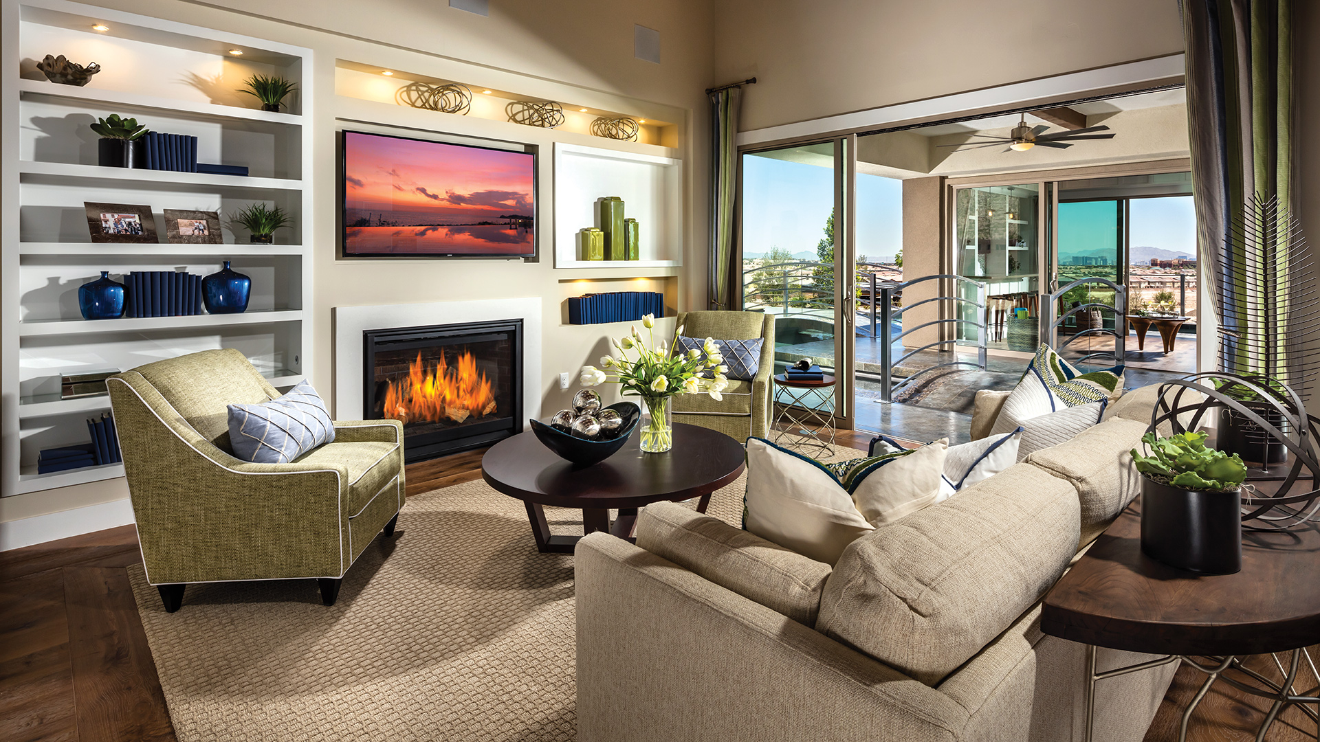 The open floor plan is great for hosting events of any variety