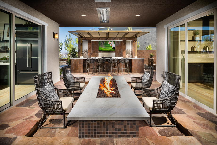 Enjoy indoor-outdoor living with covered patios and expansive sliding glass doors