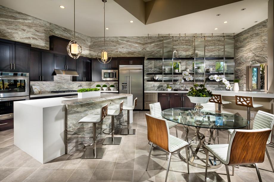 Exquisite kitchens offer large center islands