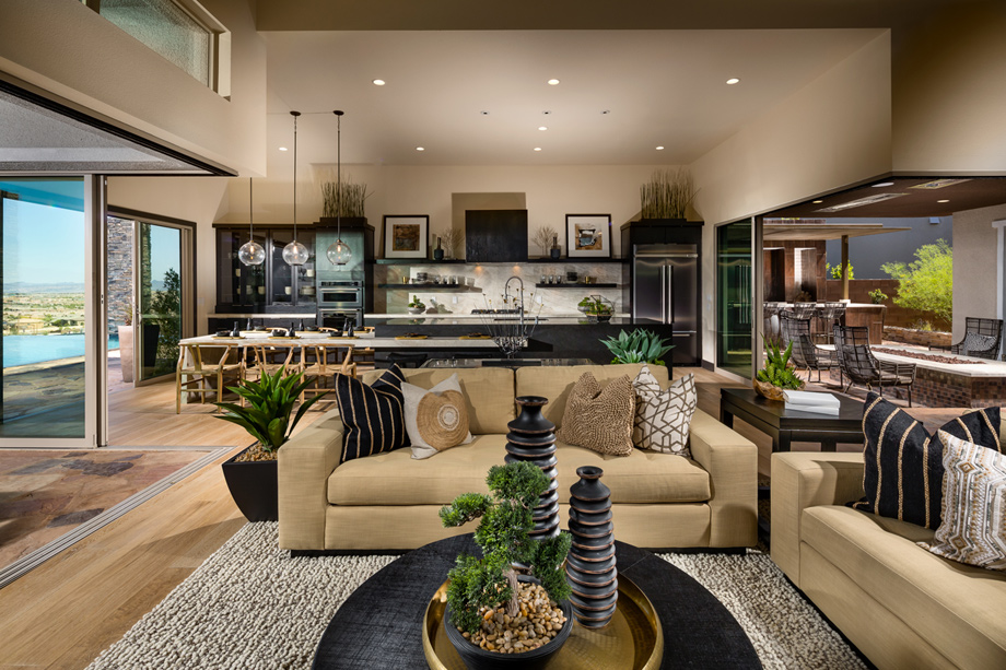 Open-concept floor plans are perfect for entertaining
