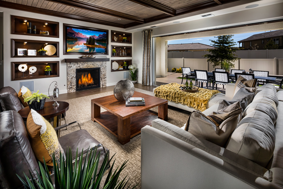 Open-concept floor plans are perfect for families and entertaining