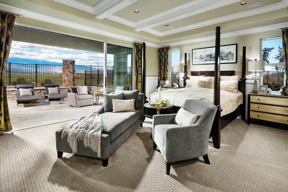 The master bedroom provides an opulence of space, luxurious master bath, and enormous walk-in closet