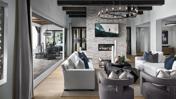 Open-concept floor plans are perfect for families or entertaining