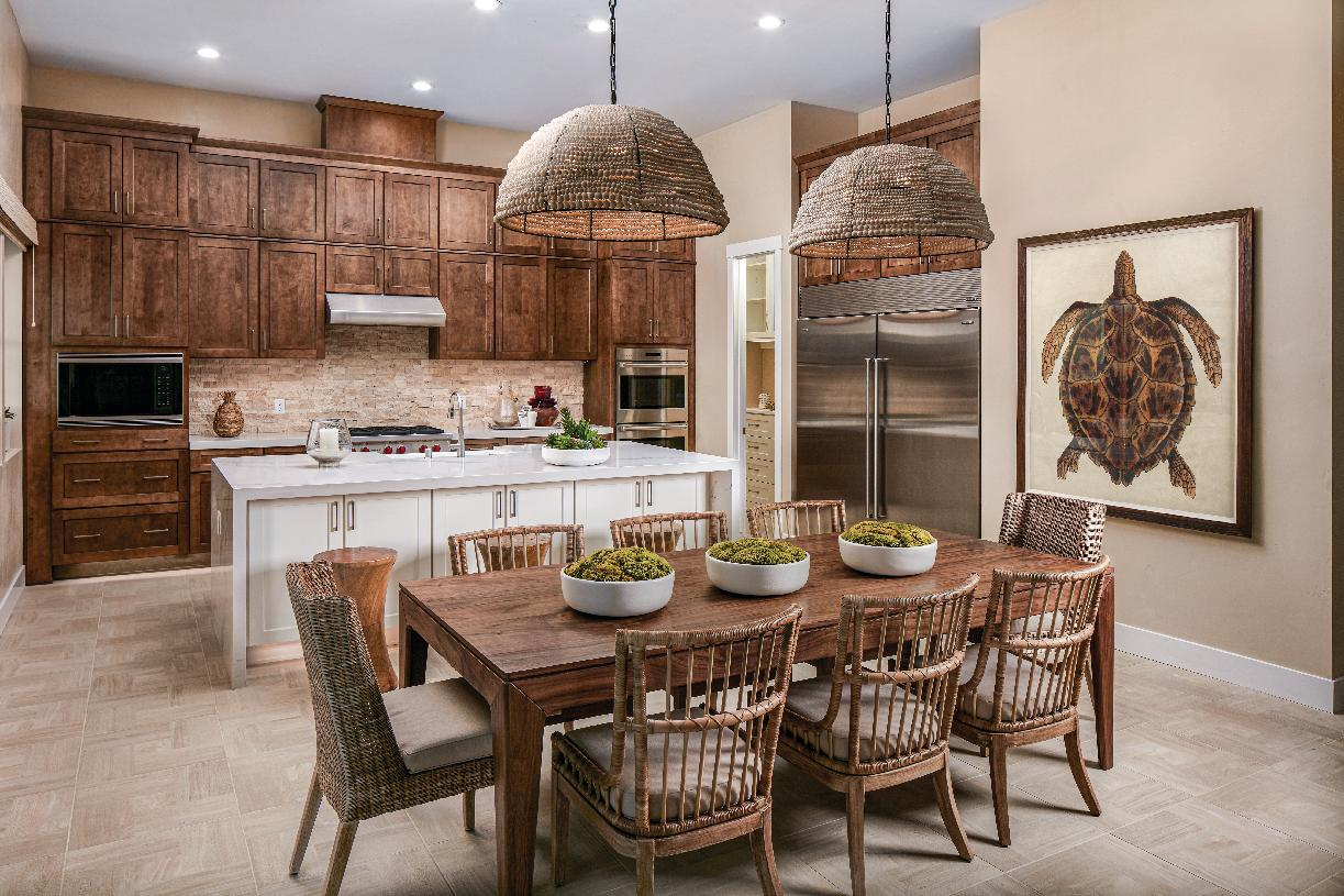 Clairmont dining room and kitchen