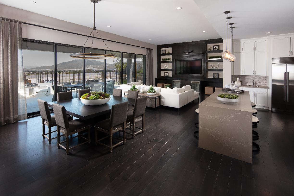 Stratford dining, kitchen, and great room