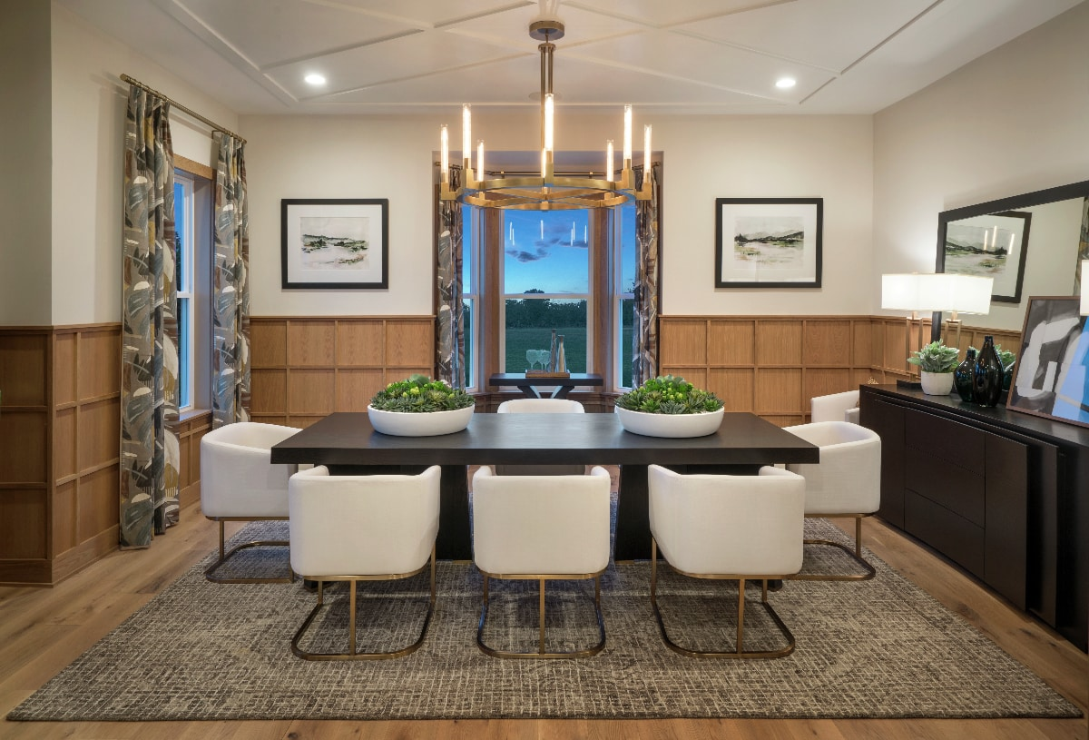Flex room can be used as a formal dining room or private office