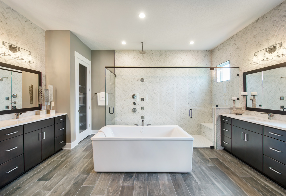 Spa-inspired bathrooms