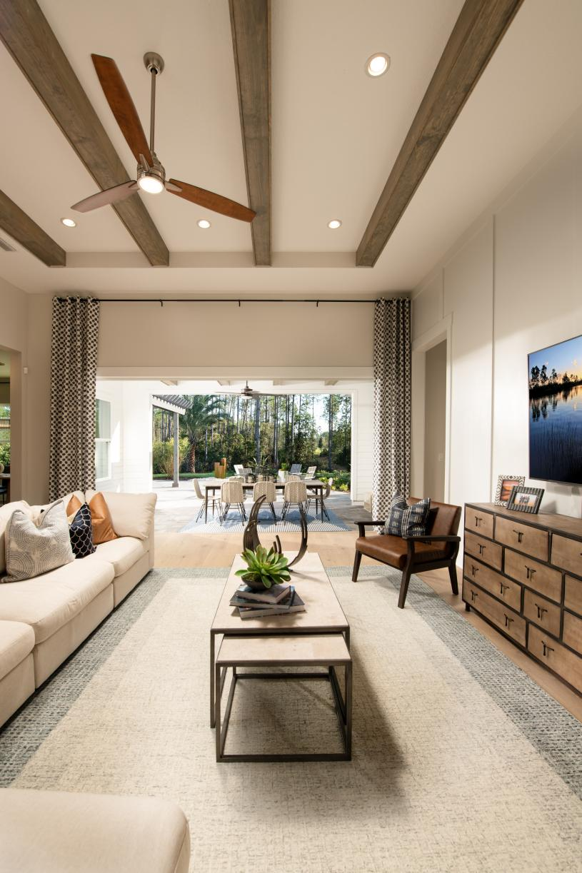 Great room opens to private covered lanai