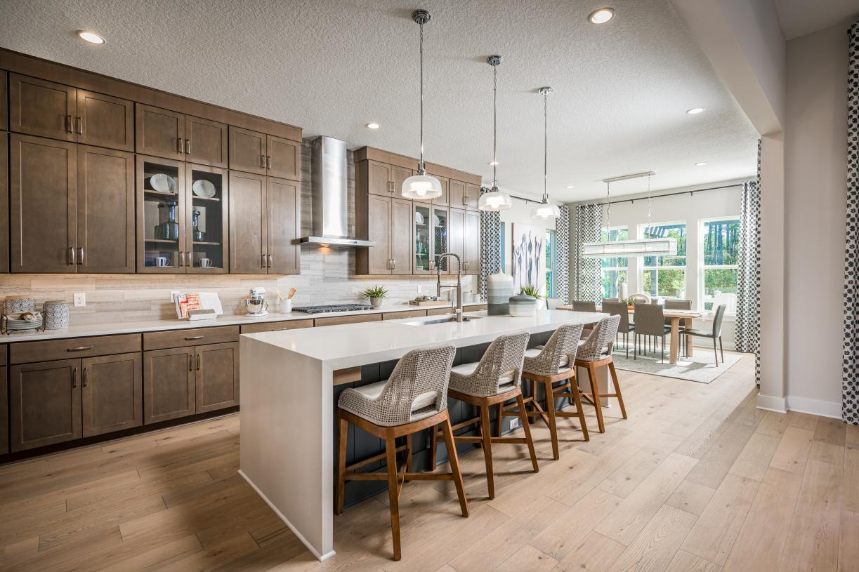 Spacious kitchen with abundant cabinetry and walk-in pantry