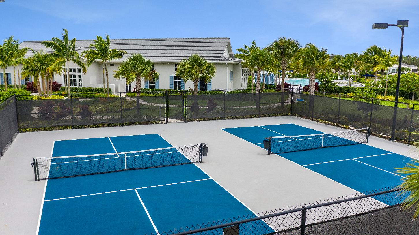 Pickle ball court at the Azure at Hacienda Lakes clubhouse