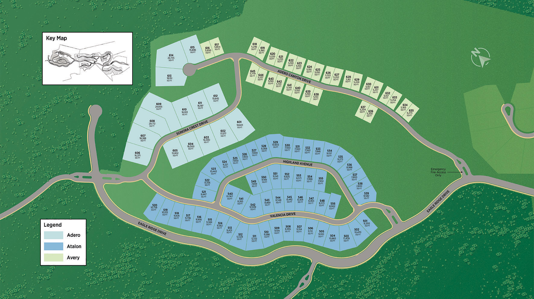 Toll Brothers at Adero Canyon - Avery Collection Site Plan