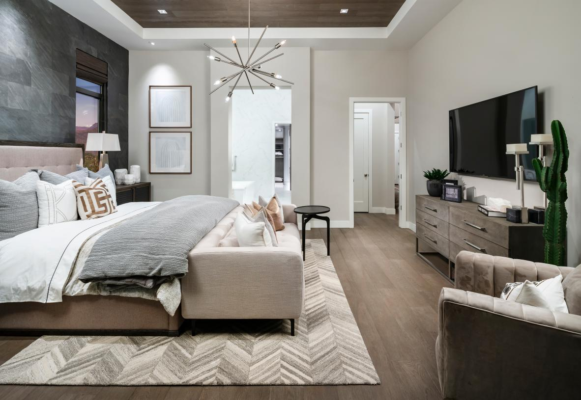 Spacious primary suites with spa-like bathrooms