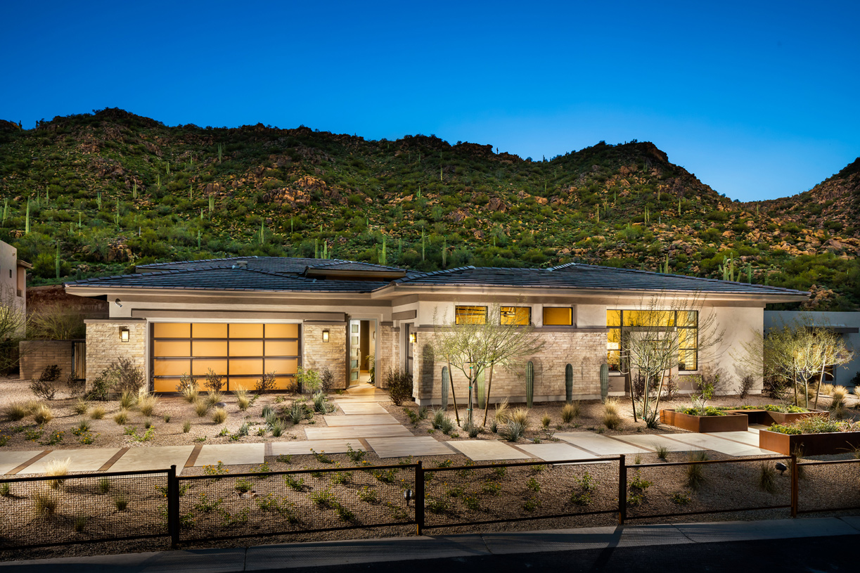 Award-winning home designs with distinct desert contemporary, modern, and prairie architecture