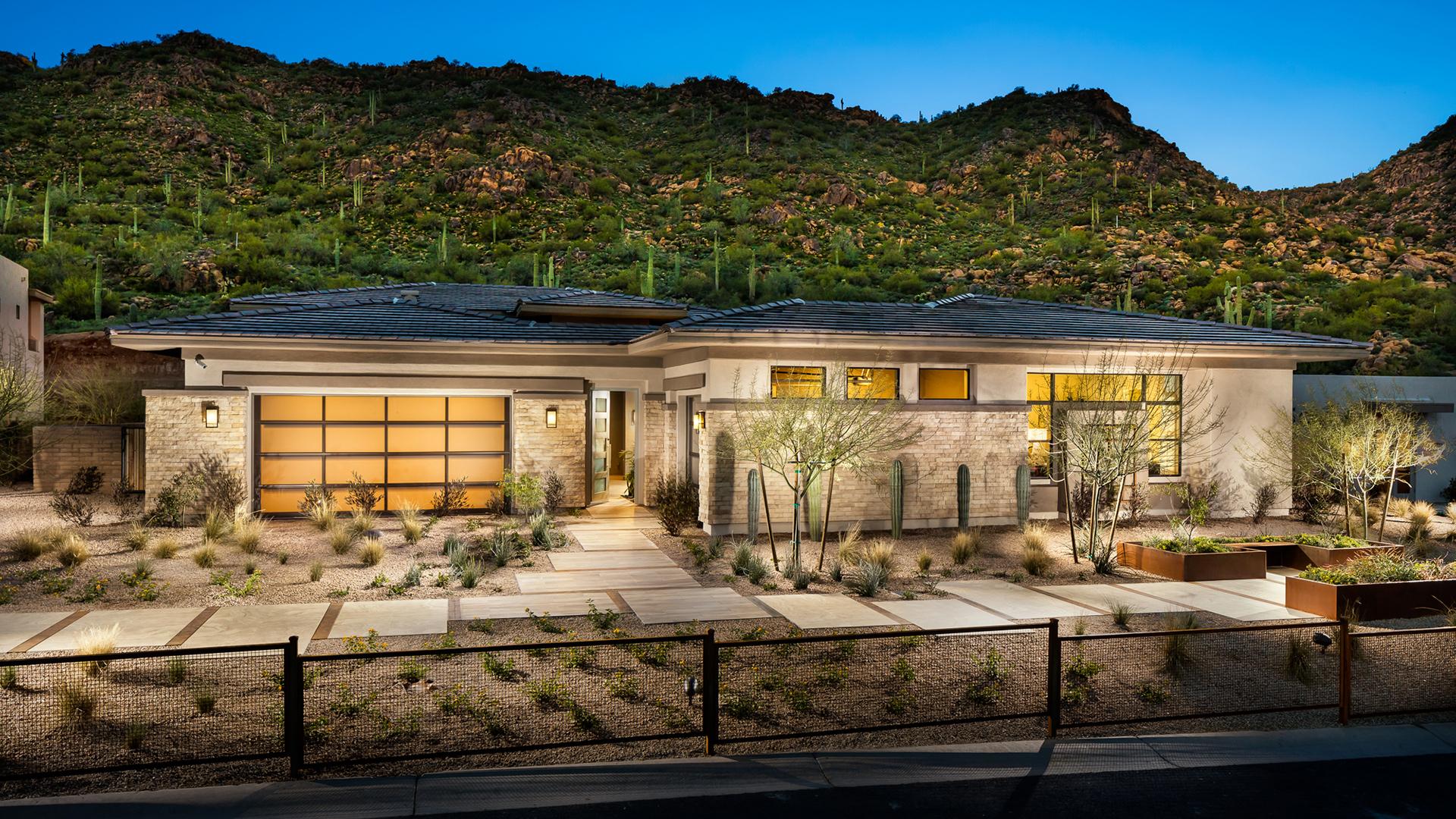 Award-winning home designs with distinct desert contemporary, modern, and prairie architecture