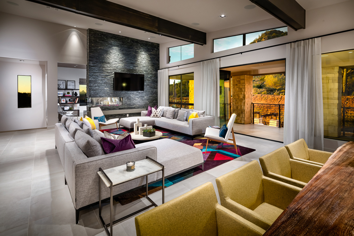 Open concept floor plans provide ideal space for entertaining