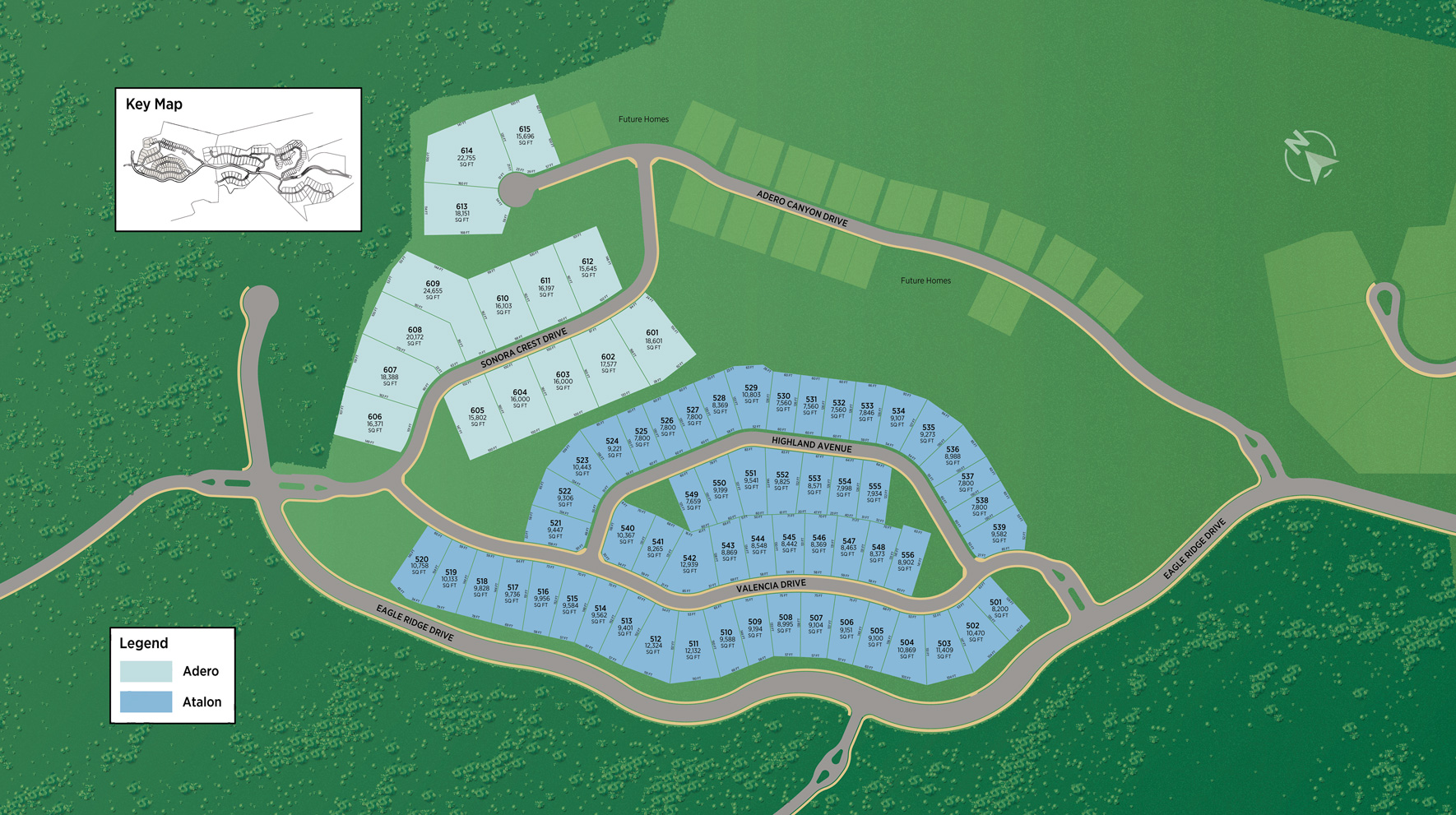 Toll Brothers at Adero Canyon - Adero Collection Site Plan