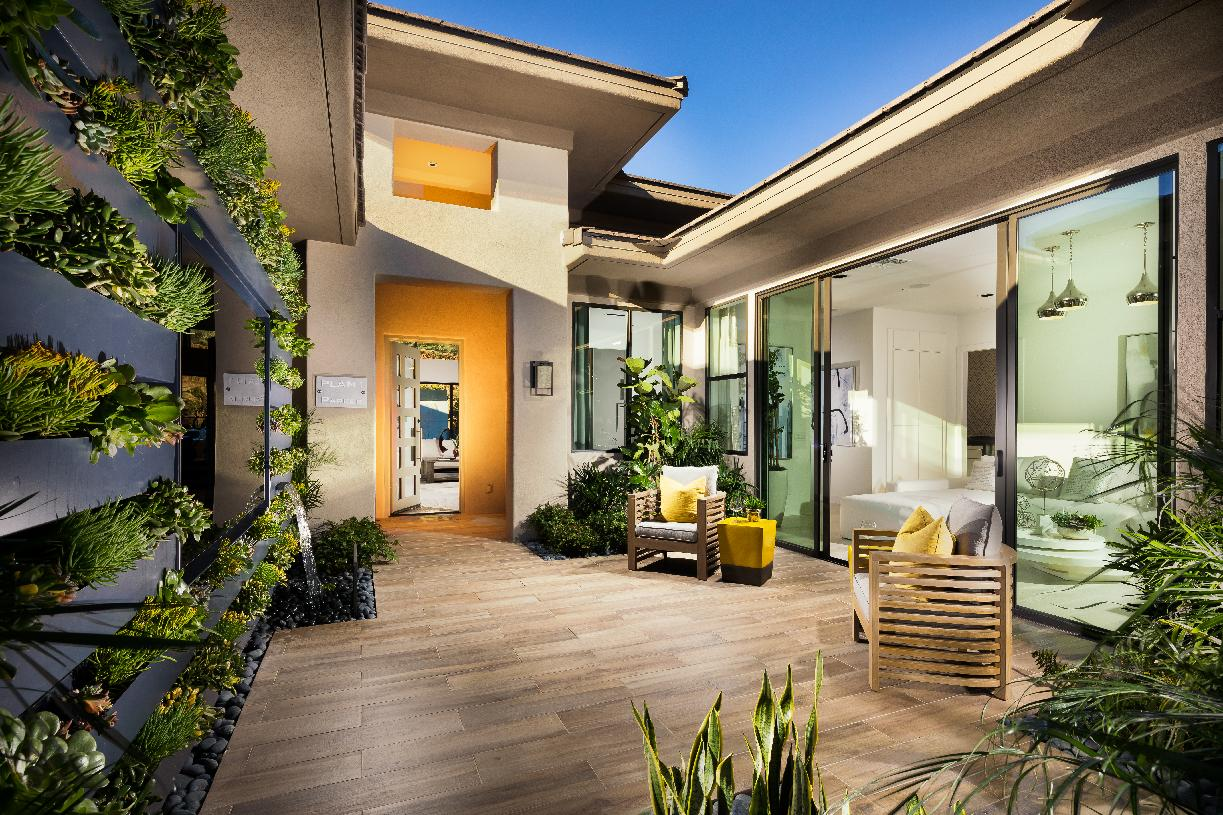 Interior courtyard fills this home with ample natural light