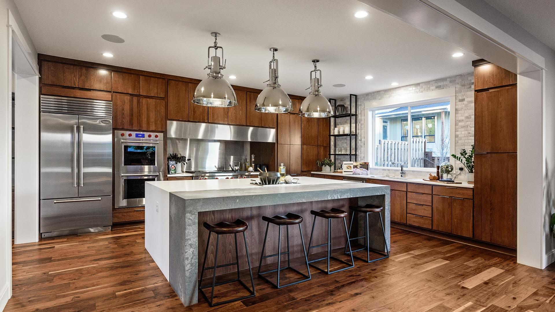Chef's kitchen in the Eugene model home