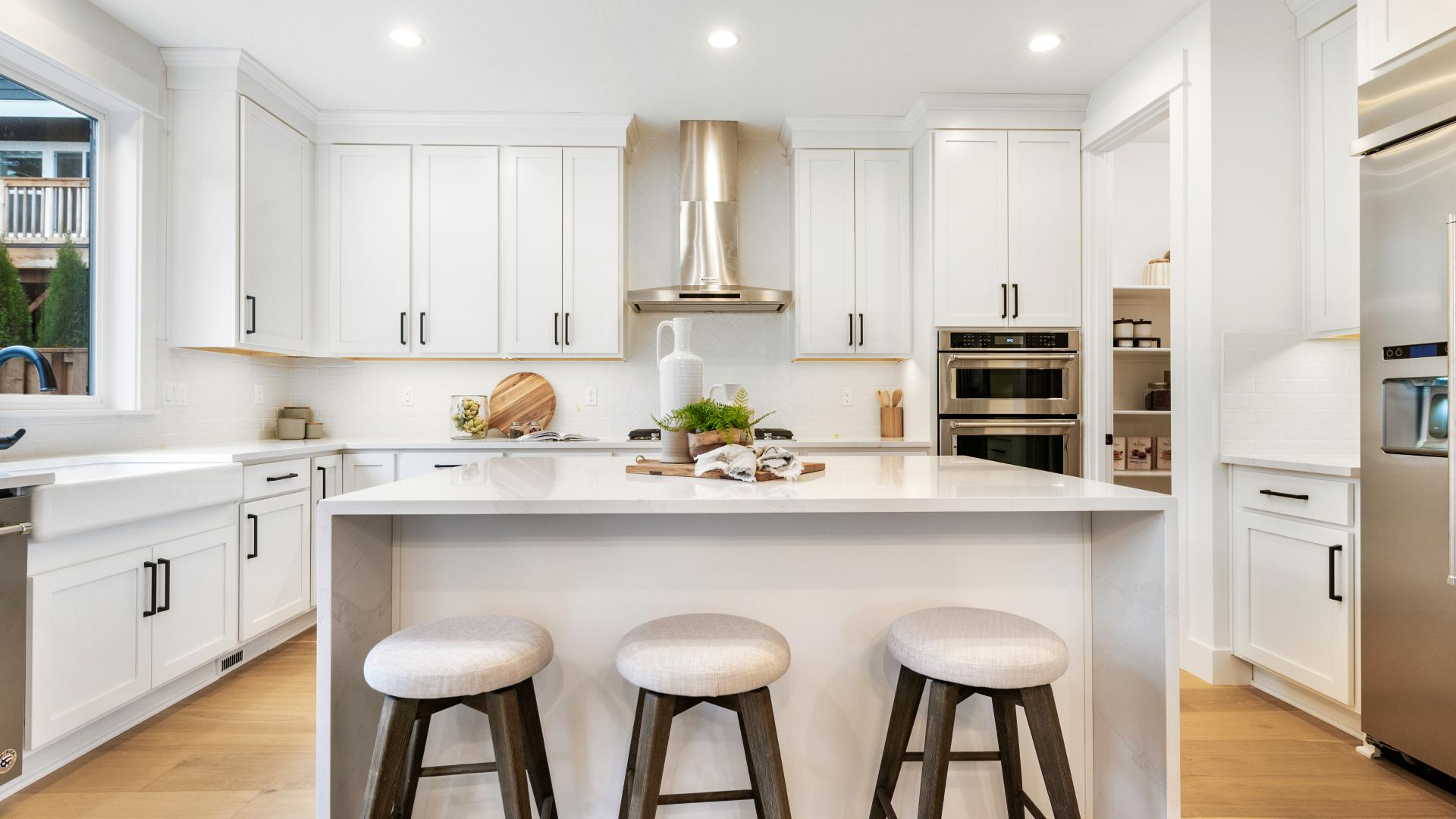 Chef's kitchen in the Nehalem with Basement home