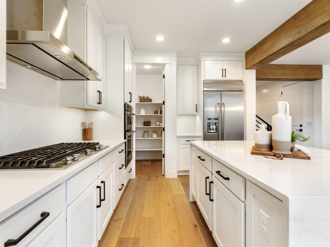 Nehalem with Basement offers a convenient walk-in pantry adjacent to the kitchen