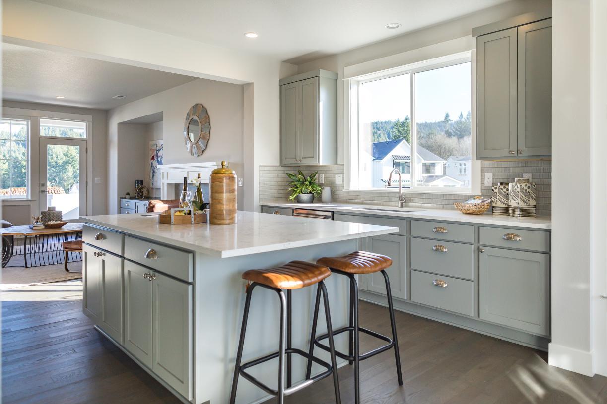 Spacious kitchen with center island