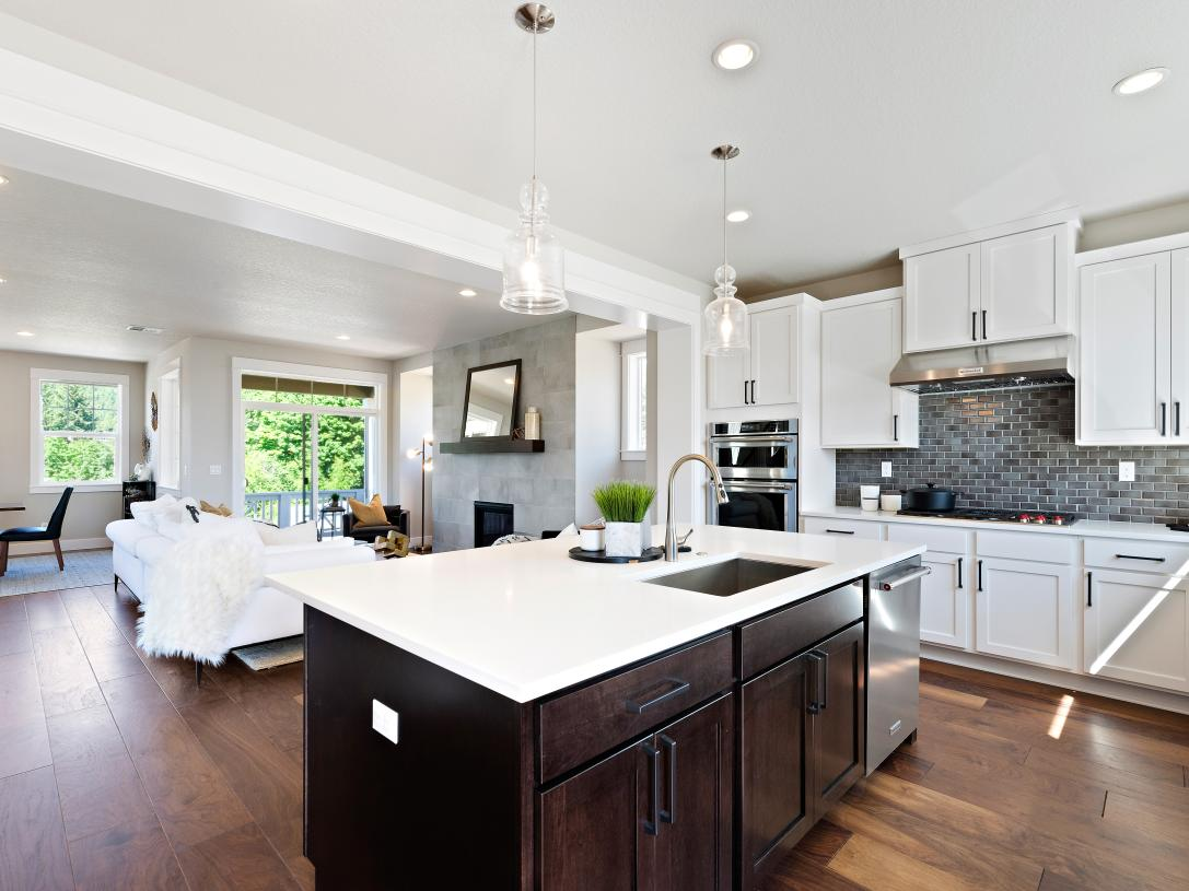 Open concept great room, kitchen and dining is great for entertaining