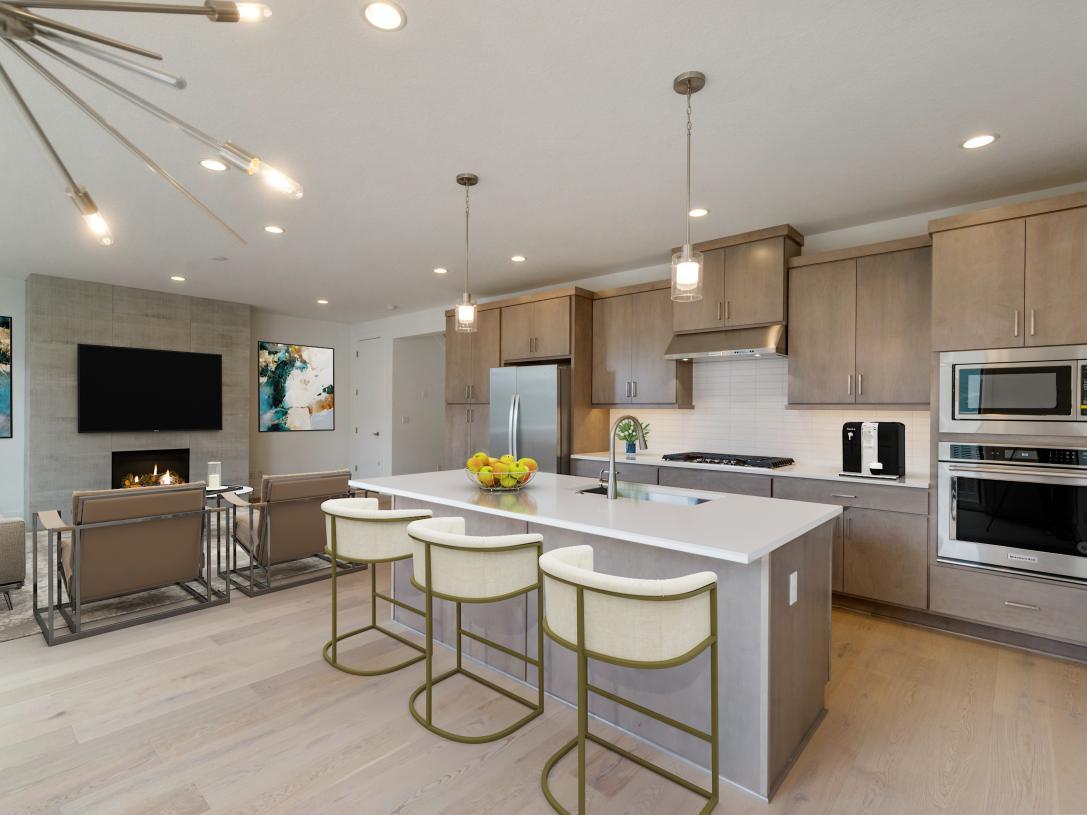 Kitchen offers plenty of cabinet storage