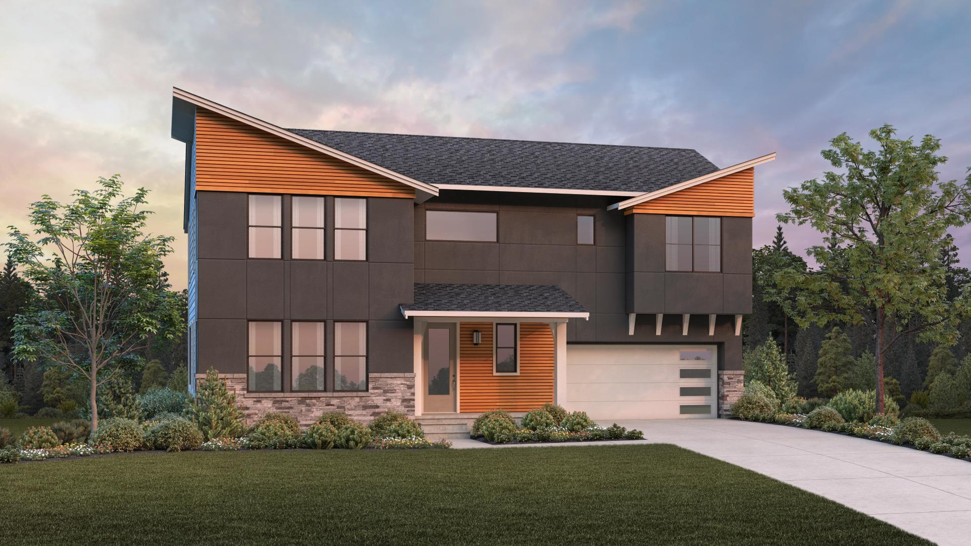Dramatic details on the Contemporary Metolius home design