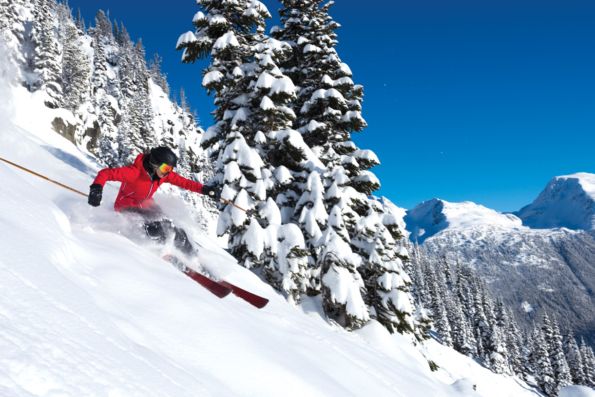Skiing or snowboarding at Mount Hood is just over an hour from your door