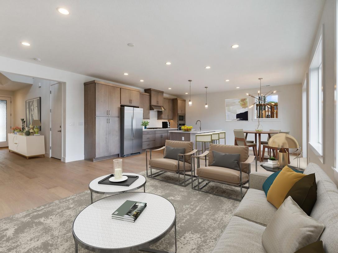 Open concept floor plan is an entertainer's dream