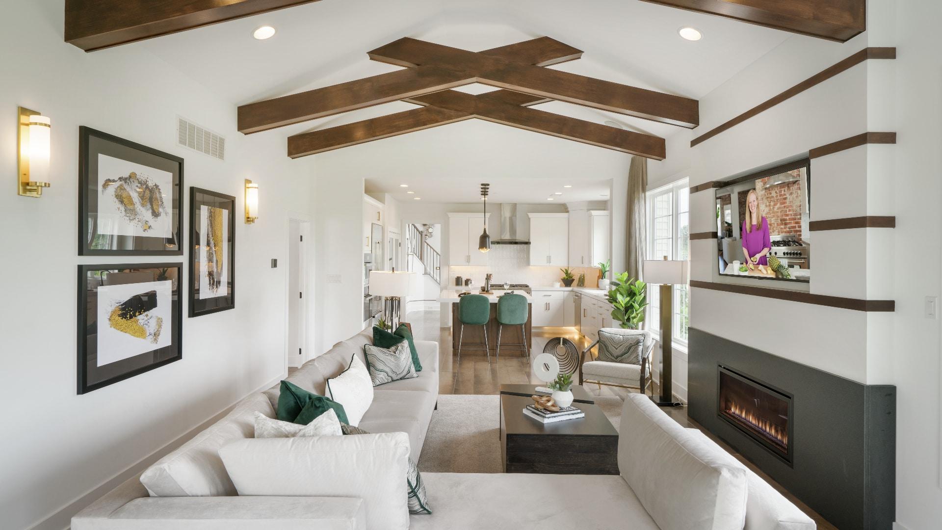 Large, open-concept floor plans