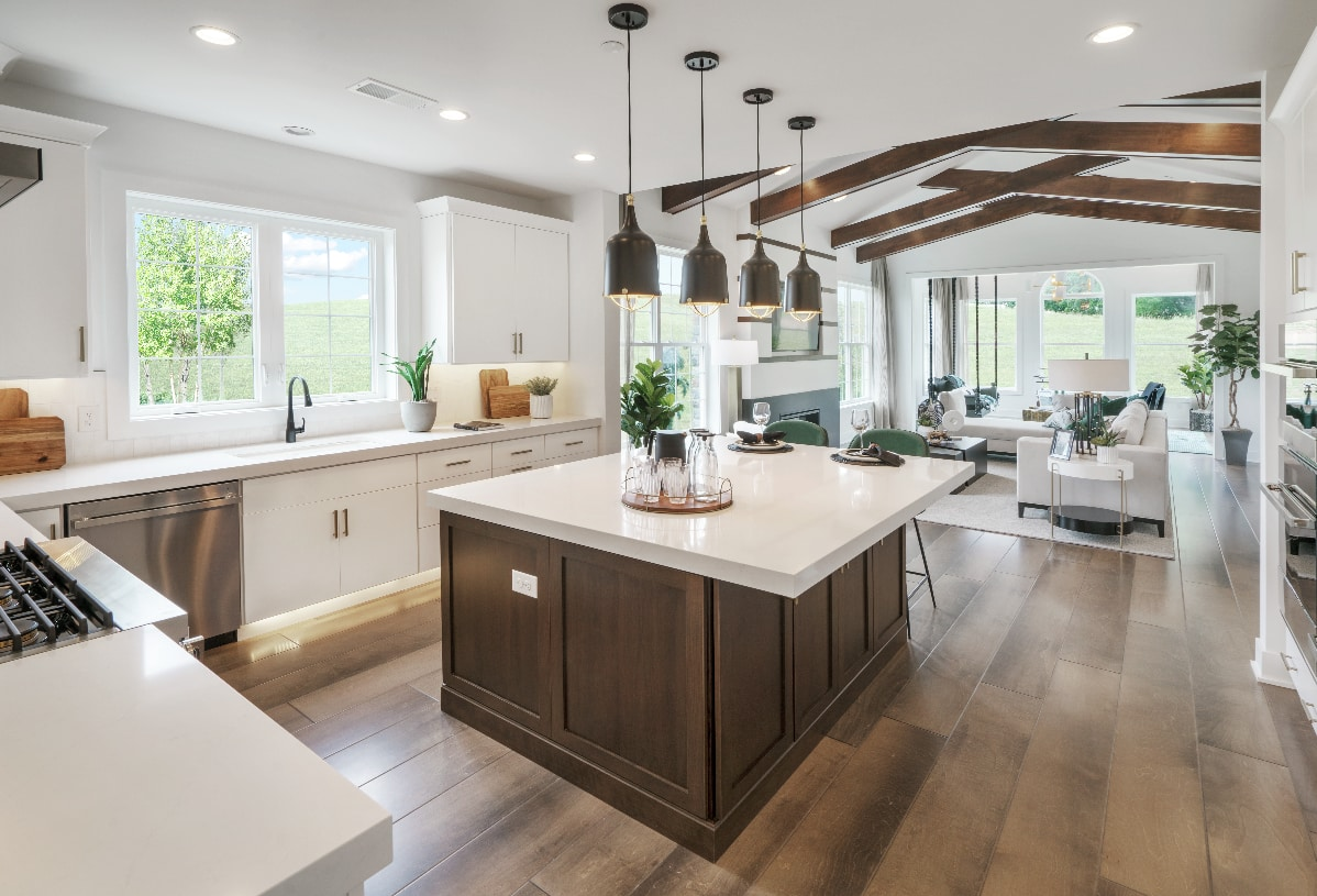 Well-appointed kitchen opens to great room
