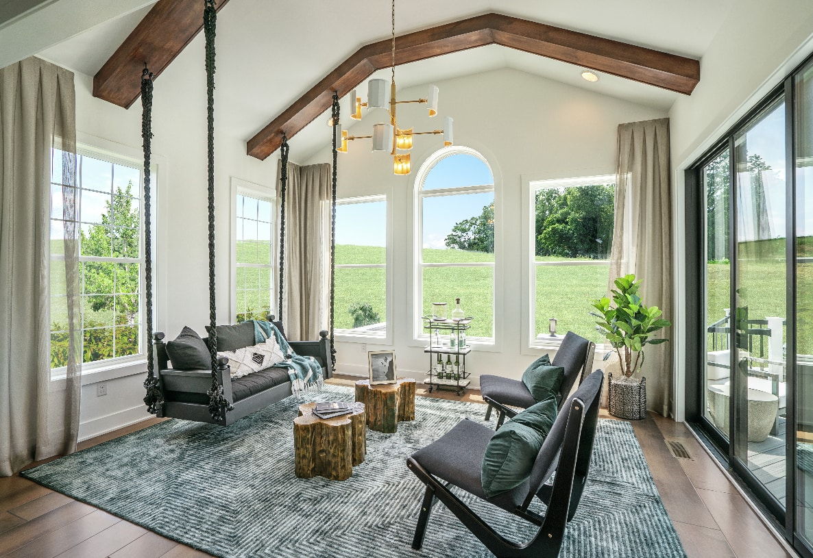 Sunlit rooms perfect for relaxing