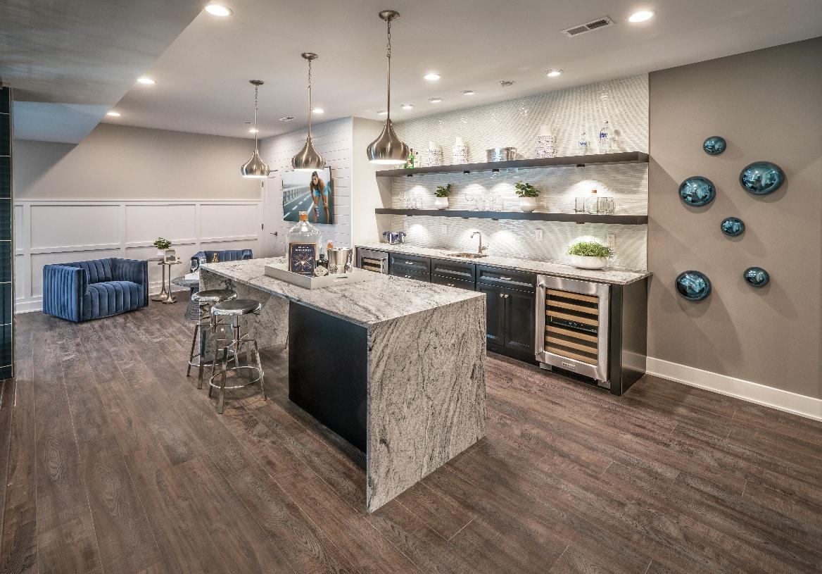 Full basements perfect for entertaining