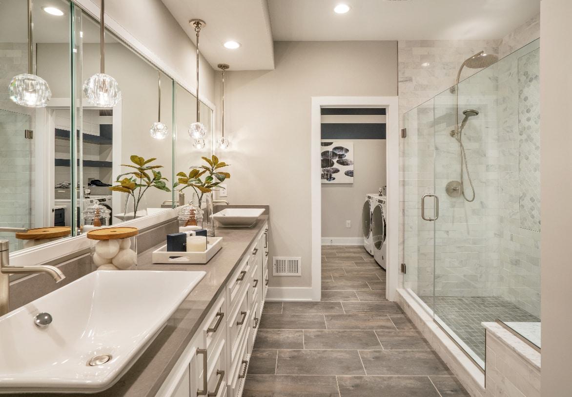 Luxury bathroom in the primary bedroom suite