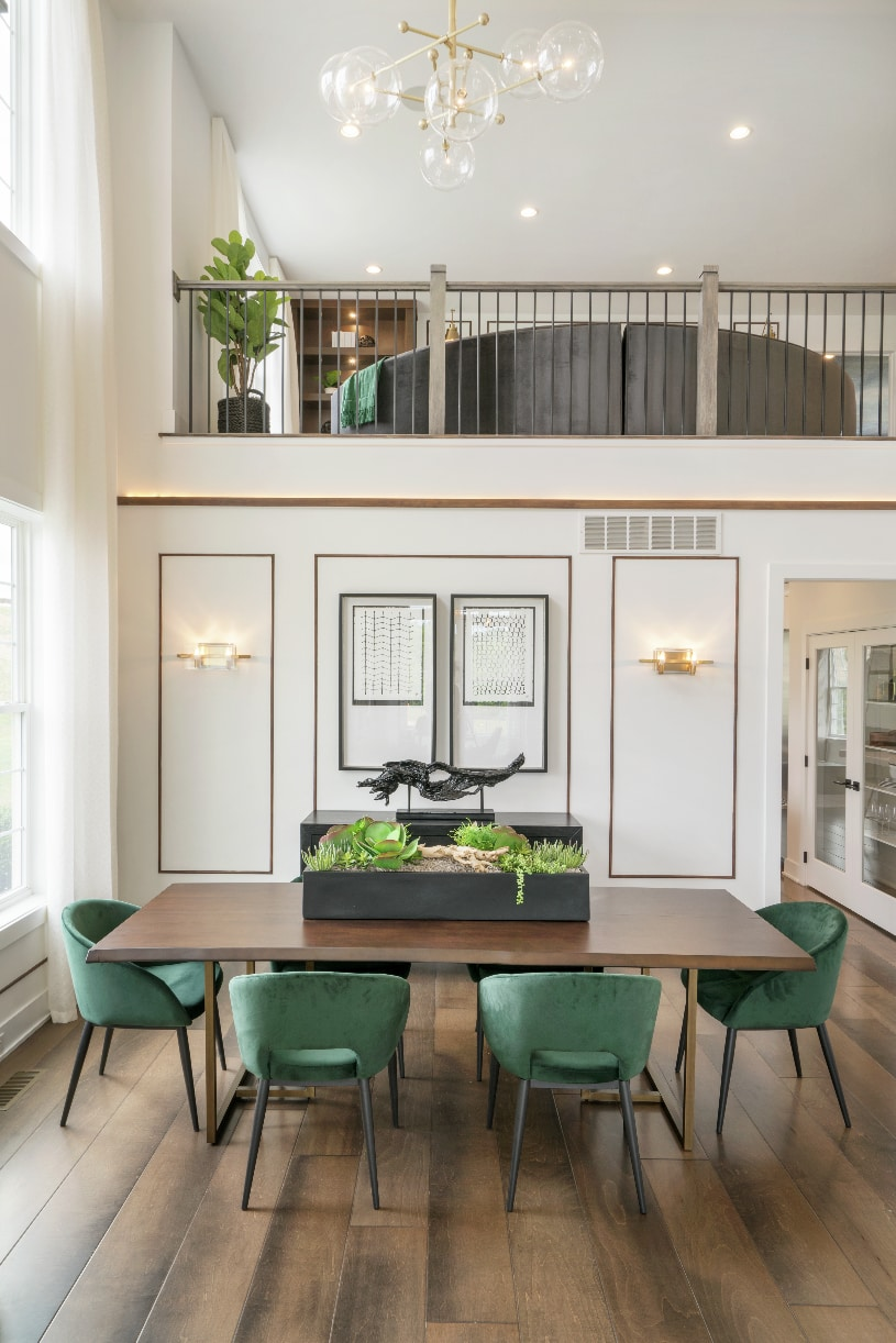 Two-story formal dining room