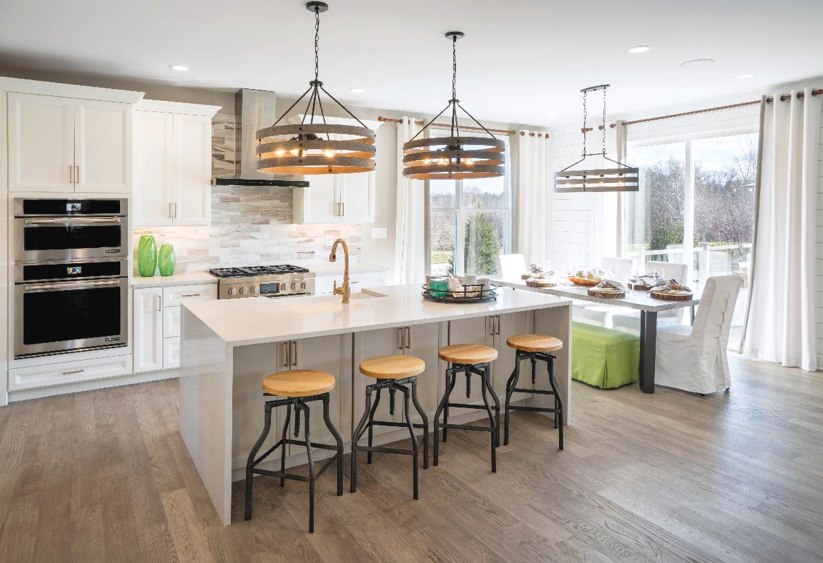 Kitchen cabinets by Century and granite countertops
