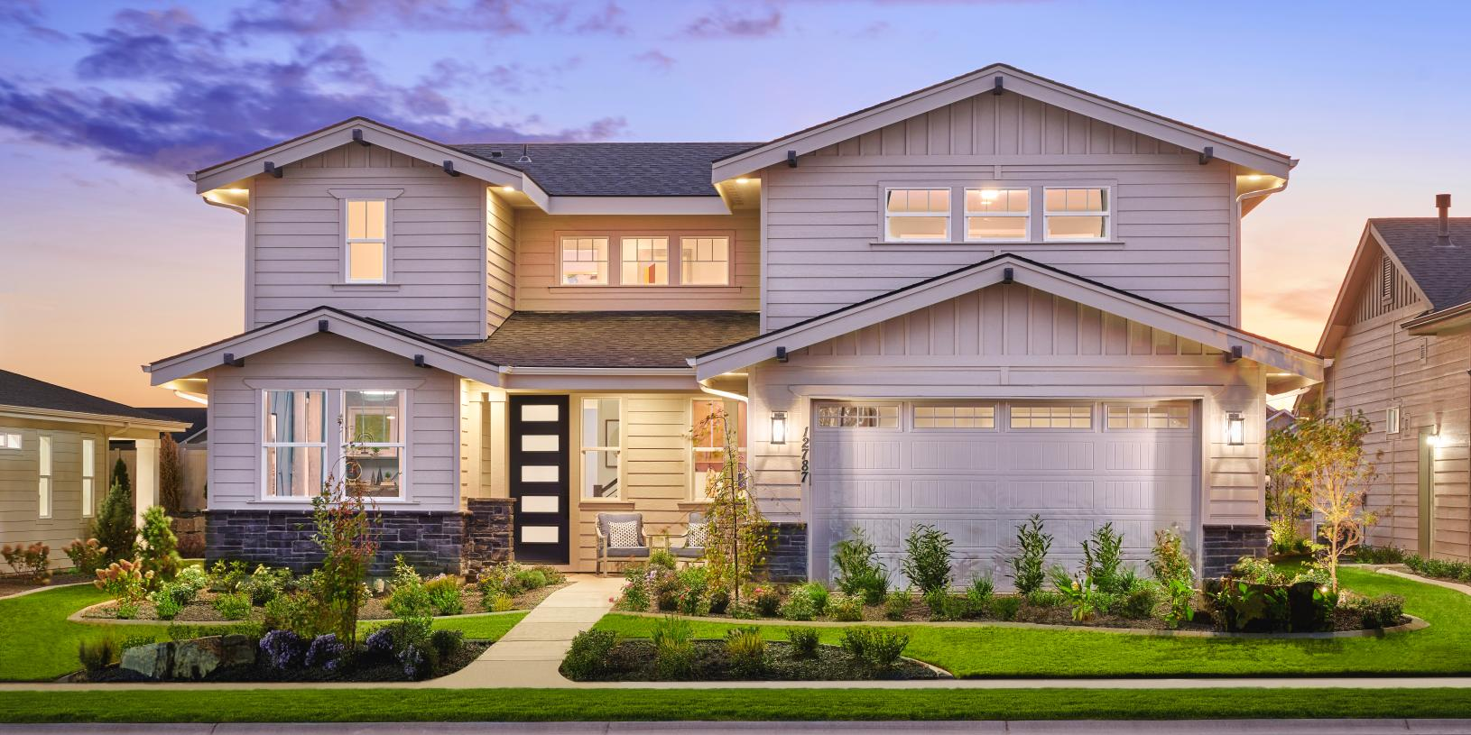 Luxurious and welcoming exterior finishes