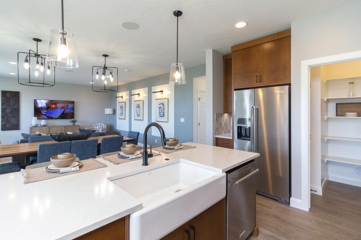 Open kitchen layout perfect for entertaining