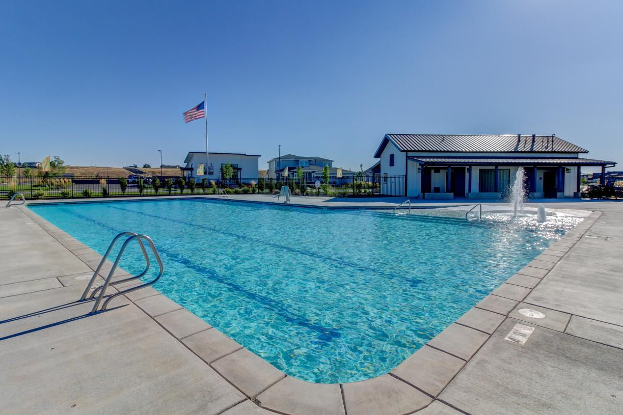 Relaxing and welcoming community pool