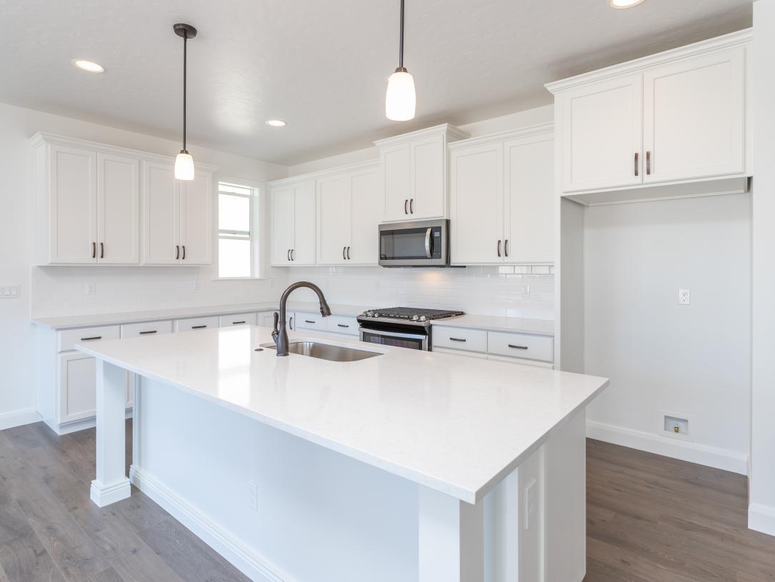 Bright and sleek kitchen