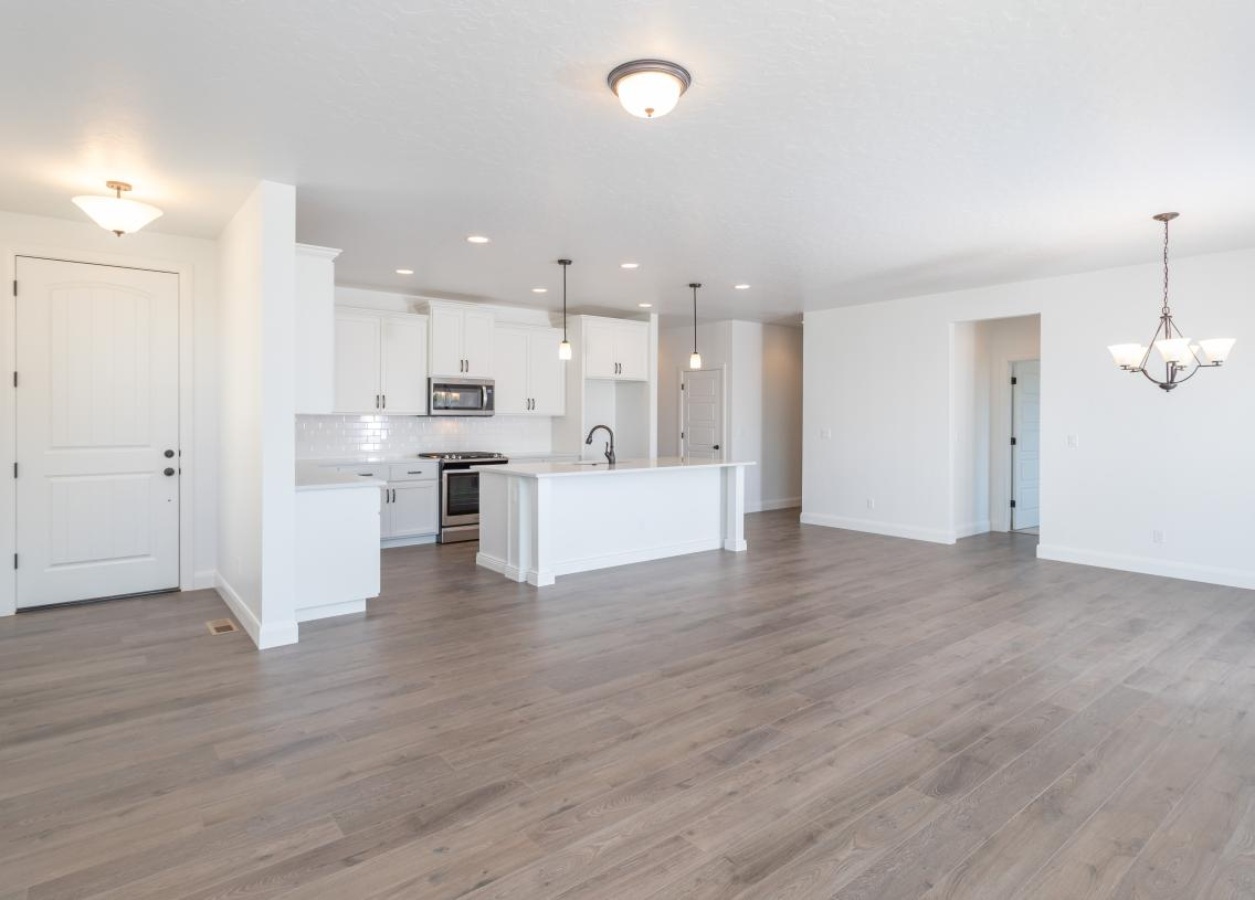 Open great room for family gatherings